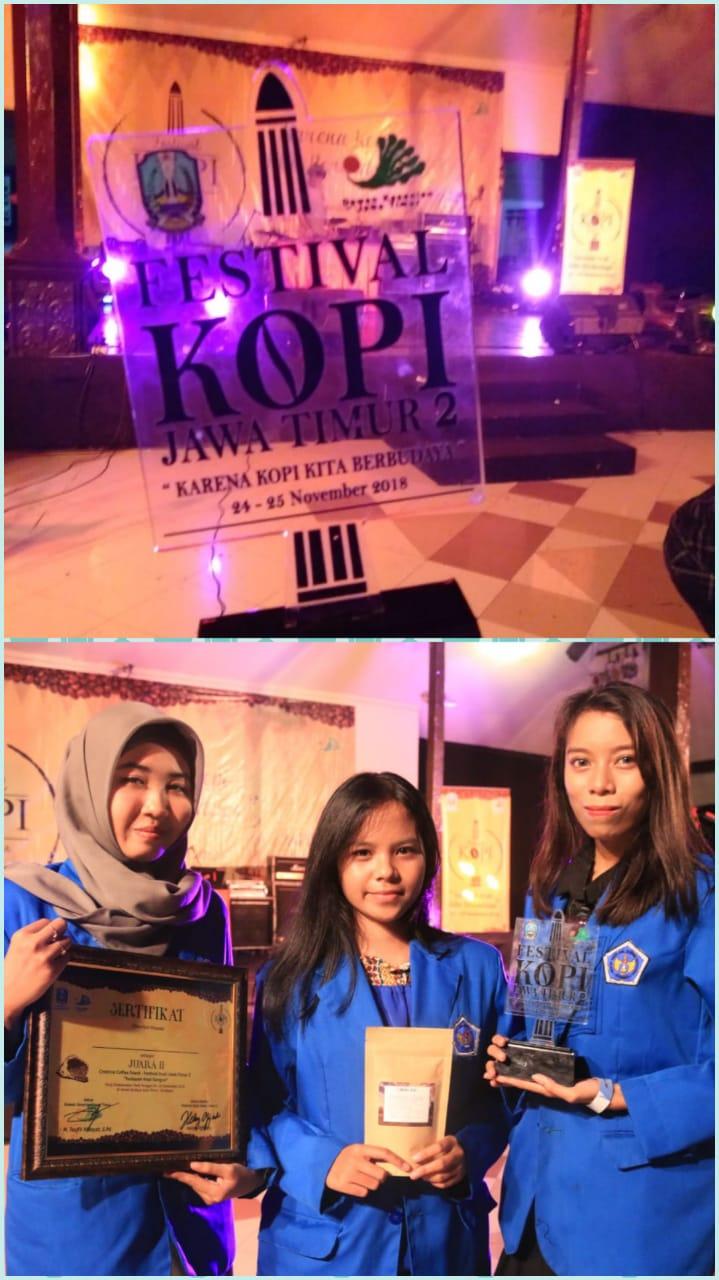 STIE Mahardhika Surabaya Juara 2 Competition Festival Kopi JATIM 2018