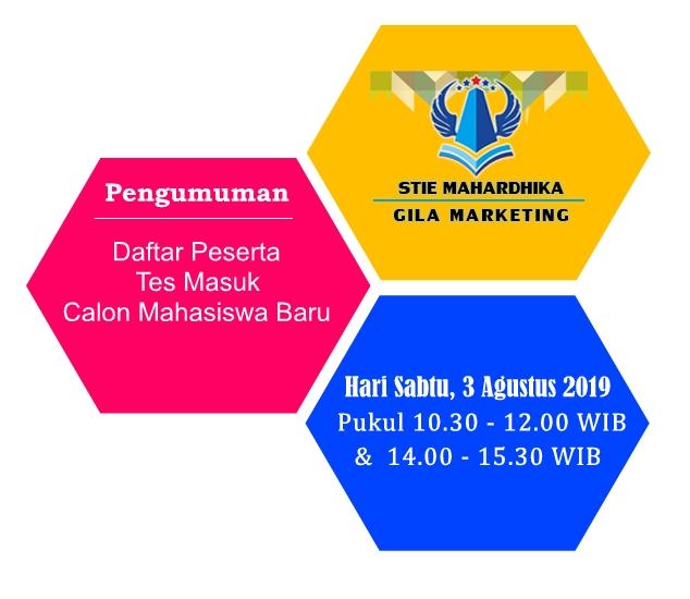 Pengumuman Daftar Peserta Tes Masuk Calon Mahasiswa Baru STIE Mahardhika Surabaya
