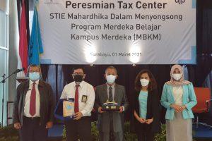 Menyongsong Program Merdeka Belajar Kampus Merdeka, Tax Center STIE Mahardhika Diresmikan
